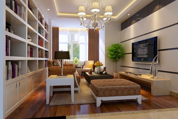 本户型从门厅开始,鞋柜的设计简洁又清新,圆形吊顶的灯光让一进户便感觉到浓浓的柔和与温暖,主卧室的主题墙条形壁纸,配上现代家具,显得空间简洁大方舒适;
