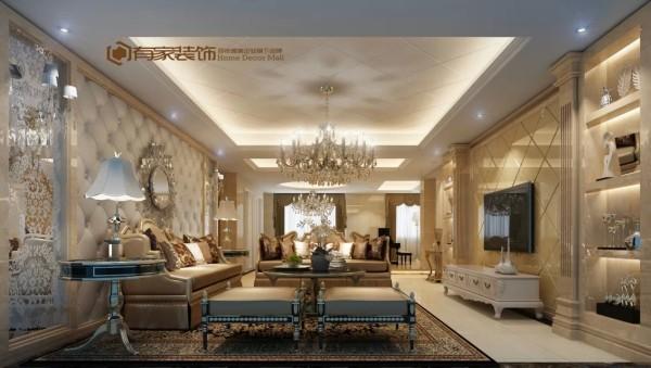 整体客厅彰显出传统的魅力,同时又蕴含着现代的气质。淡雅的色调,令空间显得颇为典雅高贵。而简约化的家具以及大方的家具摆设,则又令空间充满了时尚的感觉。