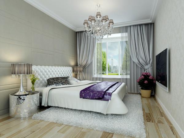 卧室是主人休息的区域,空间合理简洁,软包床头,让人感觉舒适安静,壁柜经过改动,藏于墙里,适用方便,整体颜色柔和,配饰上精致美观干净。