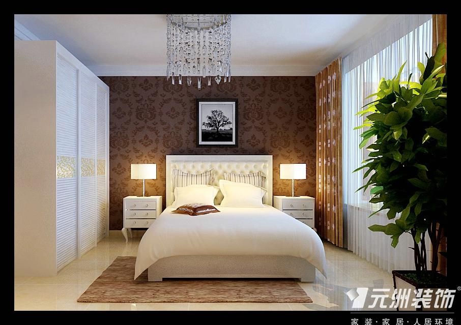 现代简约风 元洲装饰 天海誉天下 装修效果图 80后 三居 卧室图片来自石家庄-小程在天海誉天下138平现代简约风格的分享