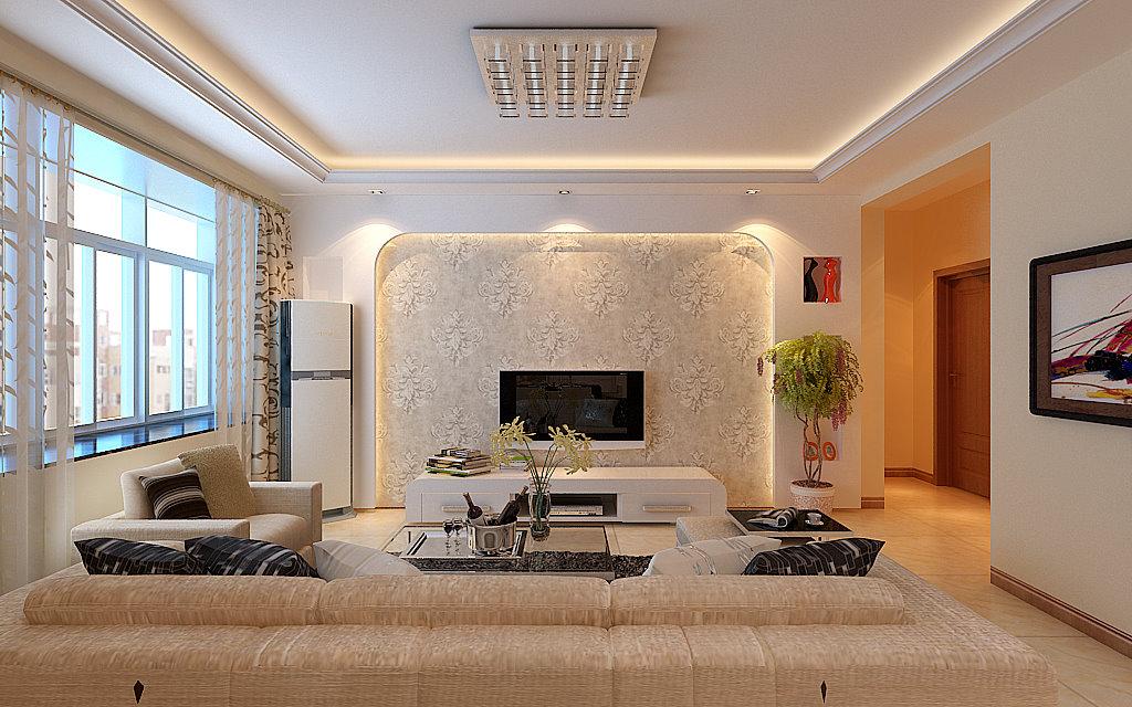 客厅图片来自西安今朝装饰设计有限公司在享受宁静闲适白桦林间的分享