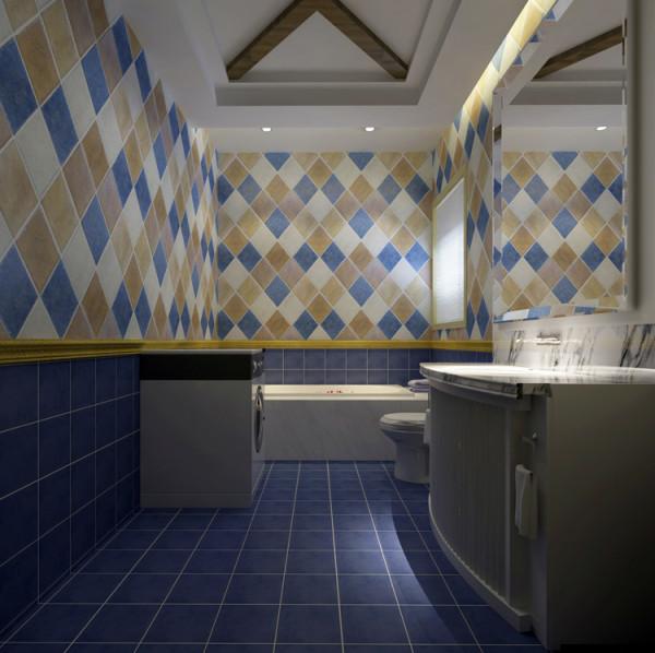 棕榈泉两居室户型卫生间效果图展示