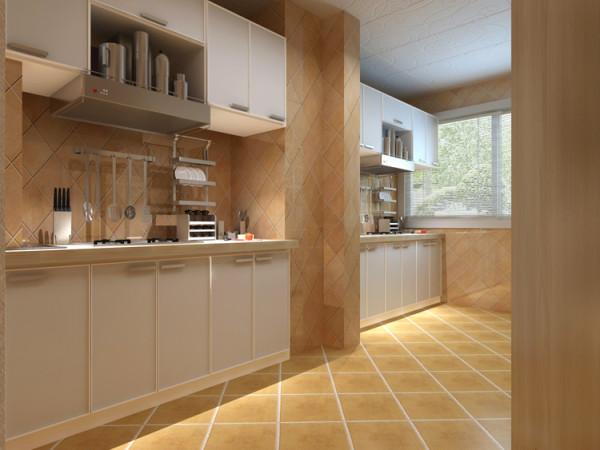 棕榈泉两居室户型厨房效果图展示