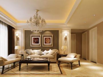 锦艺国际华都三居室简约风格