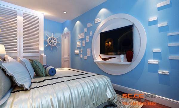 设计理念:欧式的华丽与高贵,地中海还的安静与浪漫,而次卧就是享受过的一个甜点,特此我们在设计的时候在次卧室加了一张折叠沙发,以供客人休息。 亮点:储物,办公与休息的天堂。