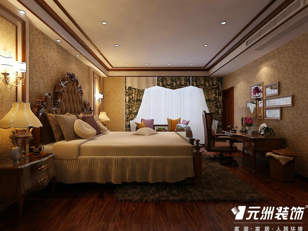 欧式 古典欧式效 别墅设计 元洲别墅设 卧室图片来自石家庄-小程在亿城上山间古典欧式别墅设计图纸的分享
