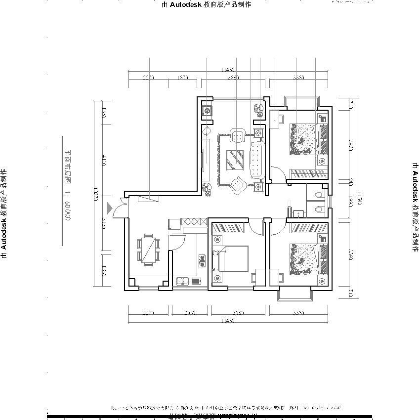 锦艺国际 三居室 简约主义 效果图 设计 户型图图片来自文金春在锦艺国际华都三居室简约风格的分享