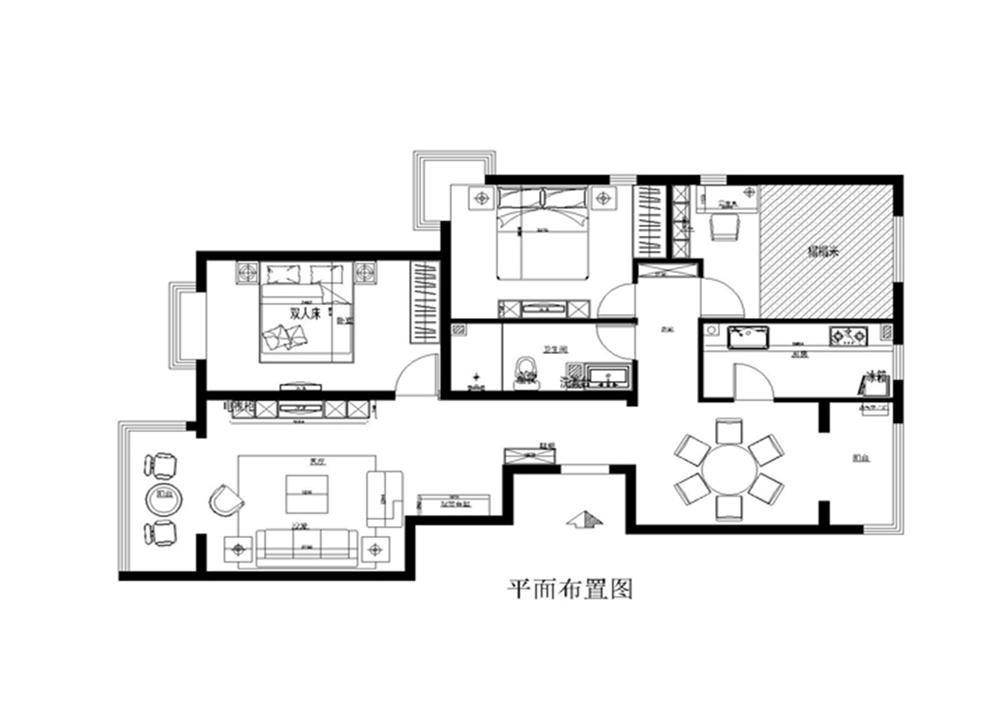 简约 欧式 别墅 旧房改造 收纳 80后 三居 户型图图片来自广州实创装饰公司李小姐在简约大气,浪漫温馨!的分享