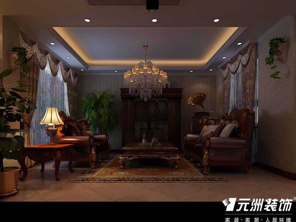 欧式 古典欧式效 别墅设计 元洲别墅设 客厅图片来自石家庄-小程在亿城上山间古典欧式别墅设计图纸的分享