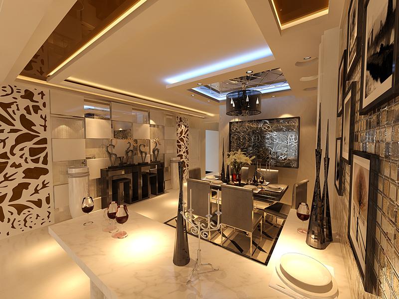 三居 现代简约 简约设计 简约装修 实创装饰 餐厅图片来自广州-实创装饰在年青婚房时尚简约三居的分享