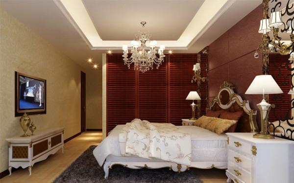 主卧室作为整个房子里面最重要的空间之一,将背景墙设计的大气有品位。亮点:做了一组通顶的衣帽柜,采用百叶推拉门既上档次同时还能满足相当大的收纳功能
