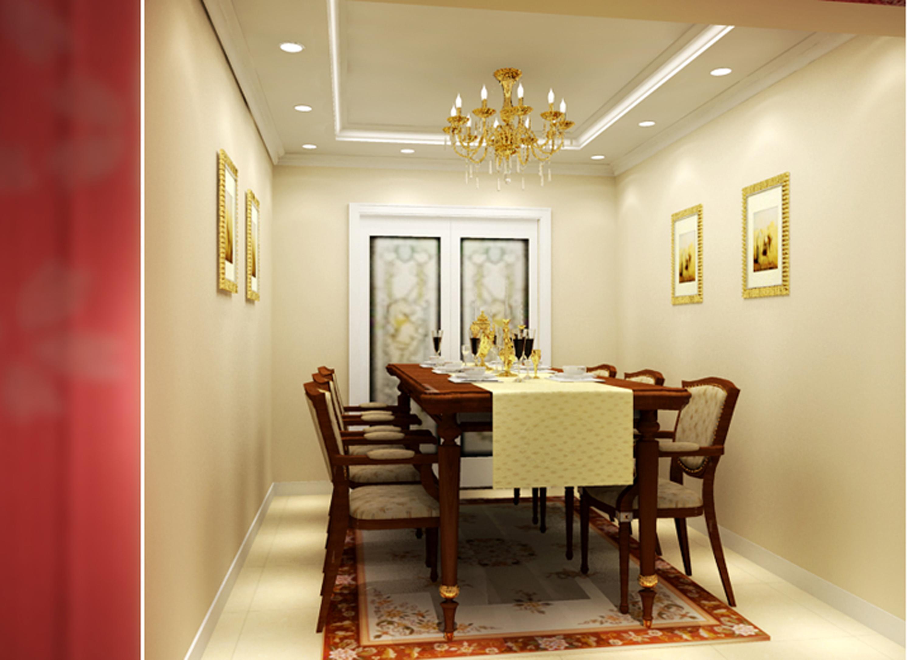 三居 浪漫简欧 中西合璧 餐厅 实创 餐厅图片来自广州-实创装饰在馨浪漫的简欧风格的分享