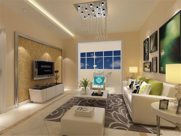 该户型欲阳大厦三室两厅一厨一卫122㎡,设计的是一套简约风格的作品。