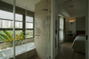 简约 欧式 混搭 80后 小资 美式 舒适 温馨 卫生间图片来自成都生活家装饰在130平舒适美式风格之家的分享