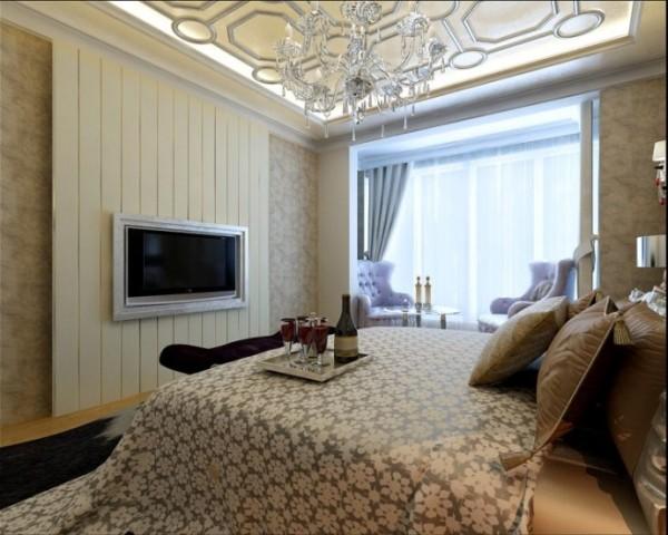 设计理念:展现非常华丽的感觉将其优雅气质散发出来。在卧室的家具配置上尽量采用多功能的家具,既能很好的挥发出它的功能,也能作为一个很好的装饰有的更能多使用功能。亮点:这样的欧式卧室更能体会出它的柔美。