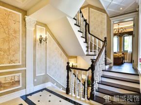 美式 五居 别墅 白领 收纳 80后 小资 楼梯图片来自桐城装饰--城城在提香溪谷的分享