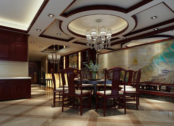 设计理念:暗红色的实木地板与客厅地面相互呼应,增加了正个方案的整体性,淡黄色的墙漆木质装饰把整个中式风格推向高潮。