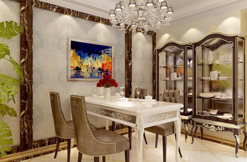 美式 三居 收纳 80后 餐厅图片来自石家庄业之峰装饰在宏基花园137平米美式新古典装修的分享
