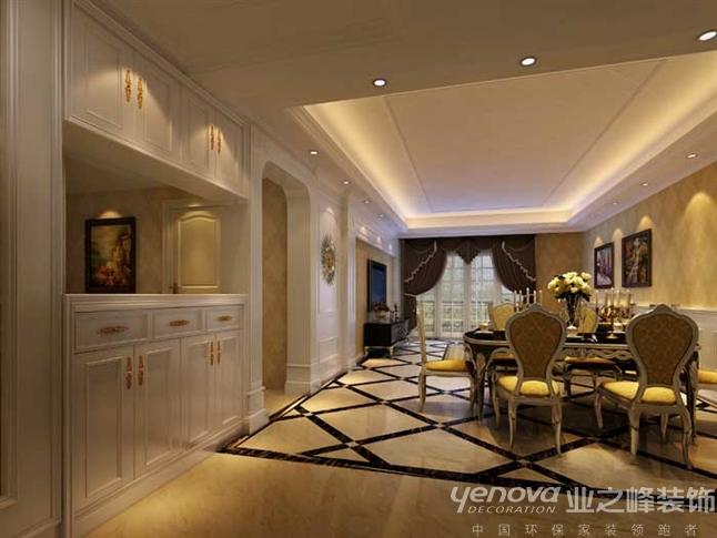 欧式 简约 混搭 三居 餐厅图片来自成都业之峰装修小管家在成都艺锦湾170顶跃案例的分享