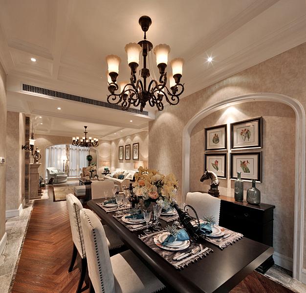 混搭 美式 阿拉奇设计 家庭装修 三居 餐厅图片来自阿拉奇设计在美式混搭家庭装修的分享