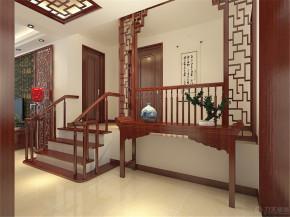 中式 二居 白领 收纳 80后 小资 楼梯图片来自阳光放扉er在迎东温泉-103平米-中式风格的分享