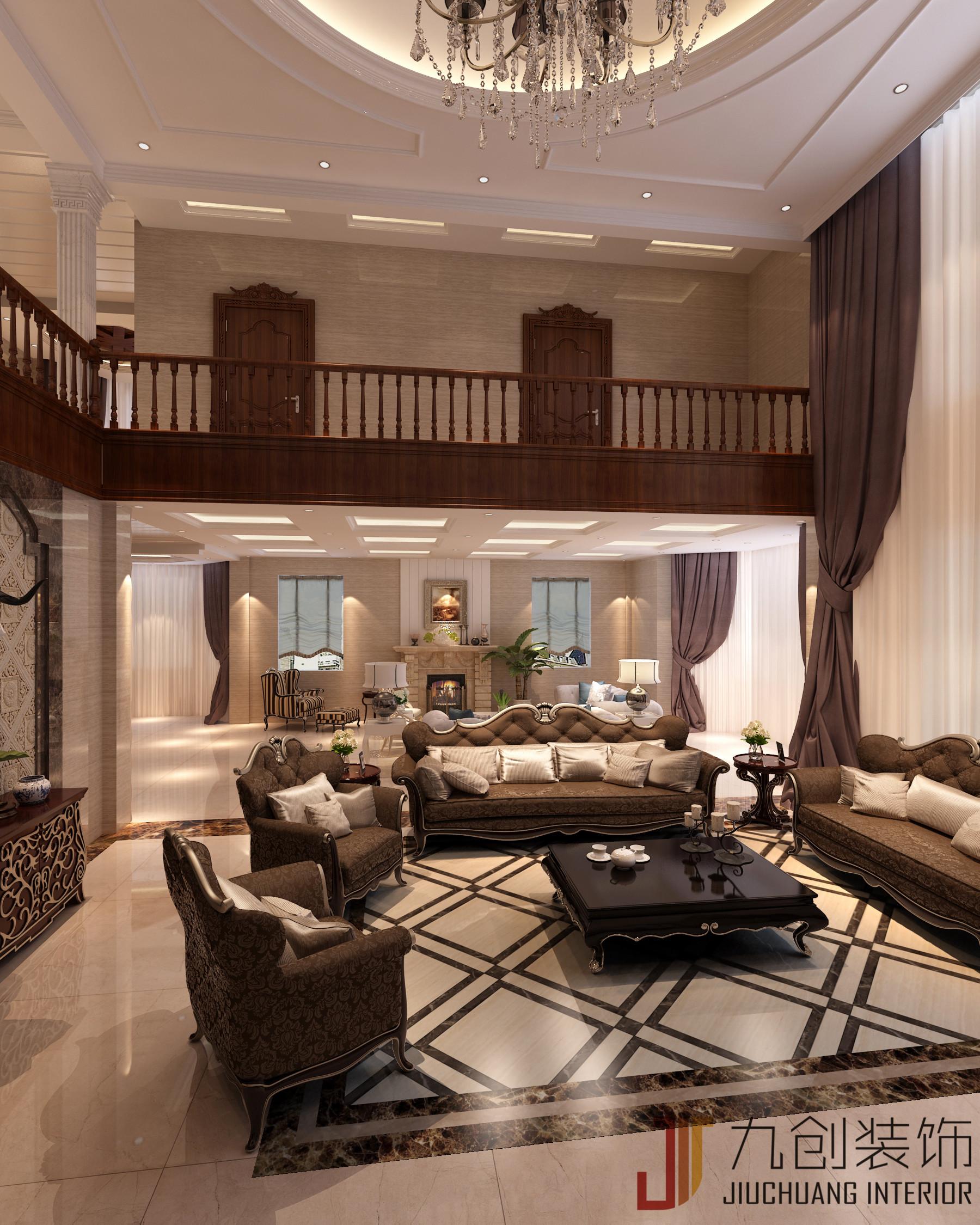 别墅 豪华 自建房 欧式 客厅图片来自昆明九创装饰温舒德在超级豪华大别墅,有钱就是任性的分享