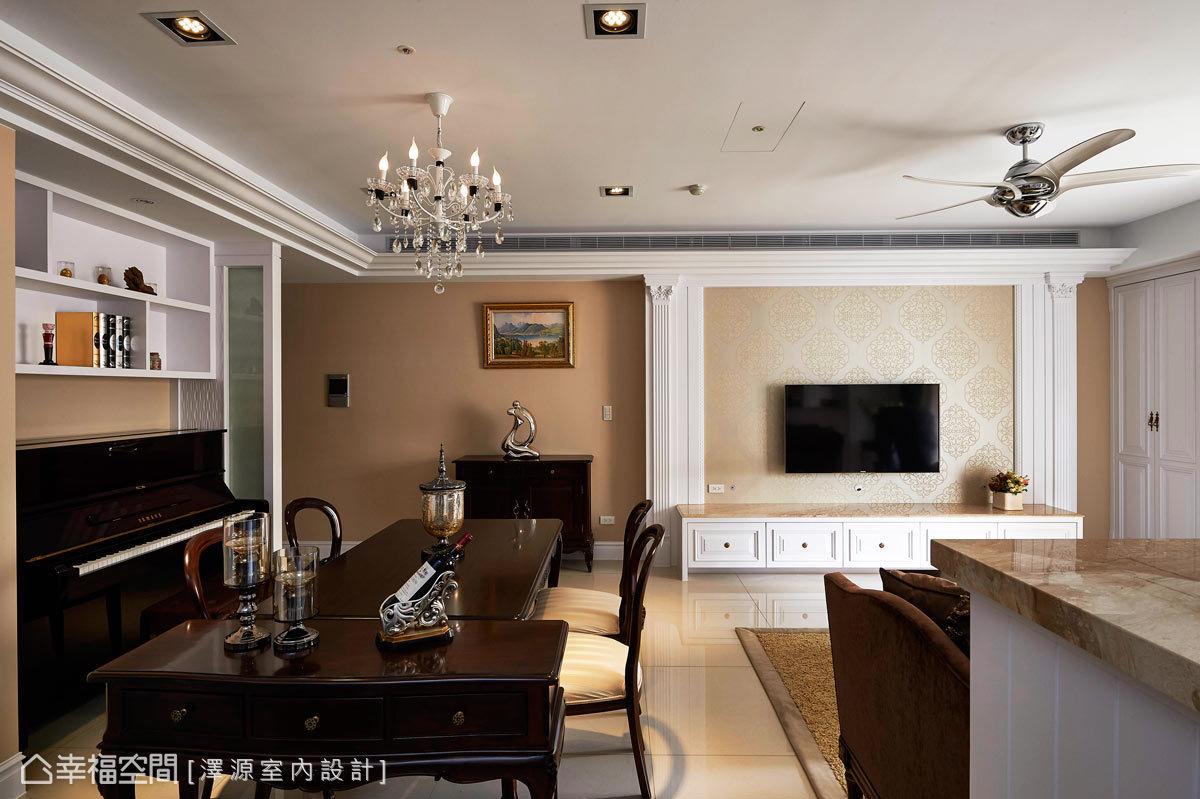 幸福空间 高端设计 台湾设计师 美式风格 客厅图片来自幸福空间在119平细腻编织美式乡村梦想城堡的分享