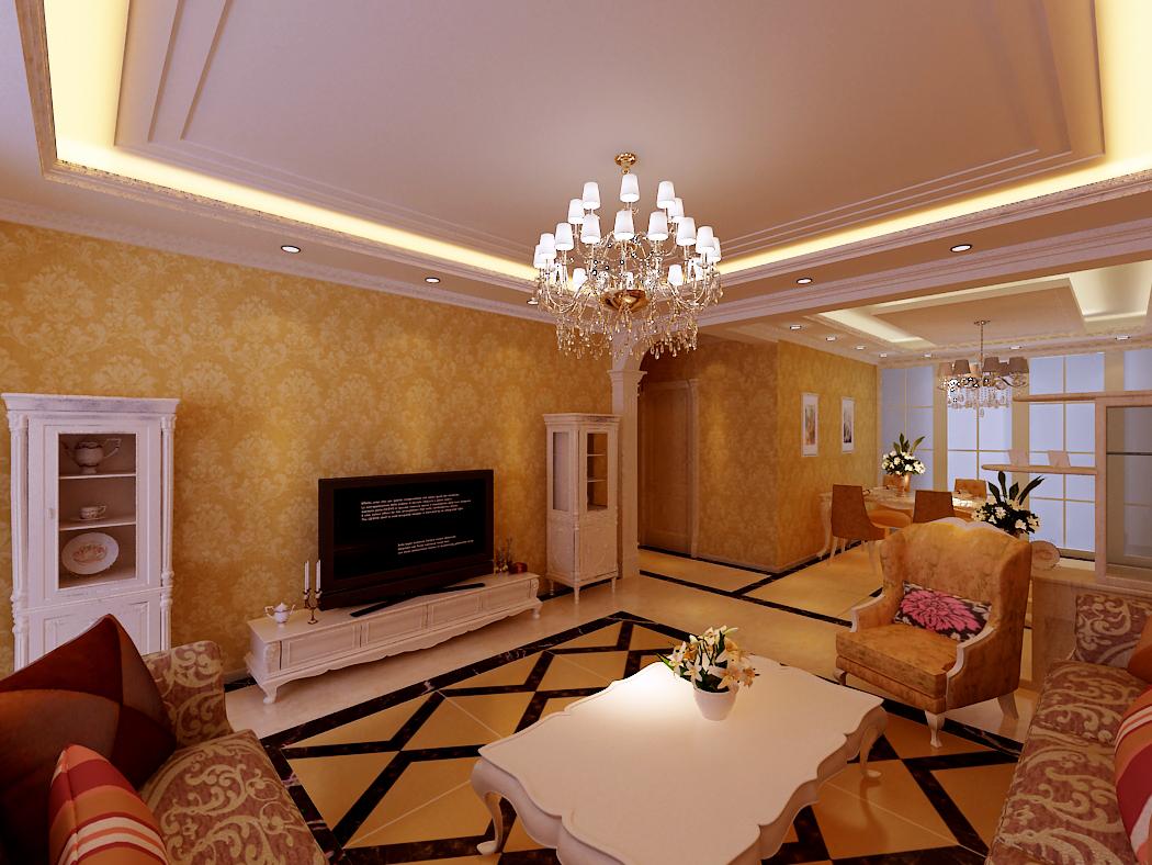 欧式 三居 客厅图片来自沈阳新饰家装饰在沈阳紫郡河畔143平欧式【5.7万】的分享