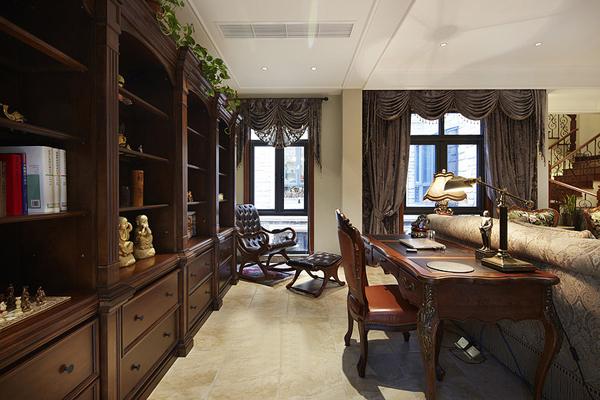 美式 别墅 超凡装饰 书房图片来自沪上名家装饰在金沙湖美式婚房的分享