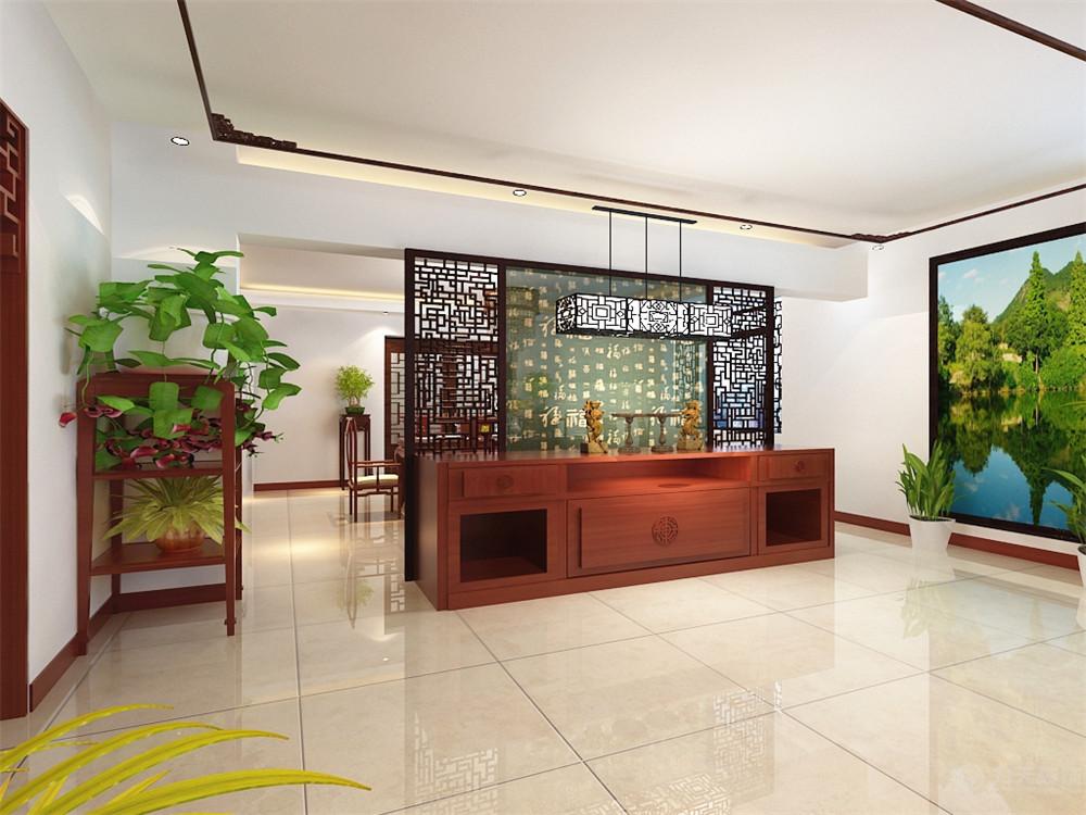 中式 三居 白领 收纳 80后 小资 客厅图片来自阳光力天装饰在海河大观-330.00㎡-新中式的分享