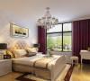 卧室,本来以为是书房的设计,业主考虑到年迈的父母以后可能会常住就设计成了卧室,主要是温馨恬静的福乐阁涂料色彩来打造,既养生又环保。