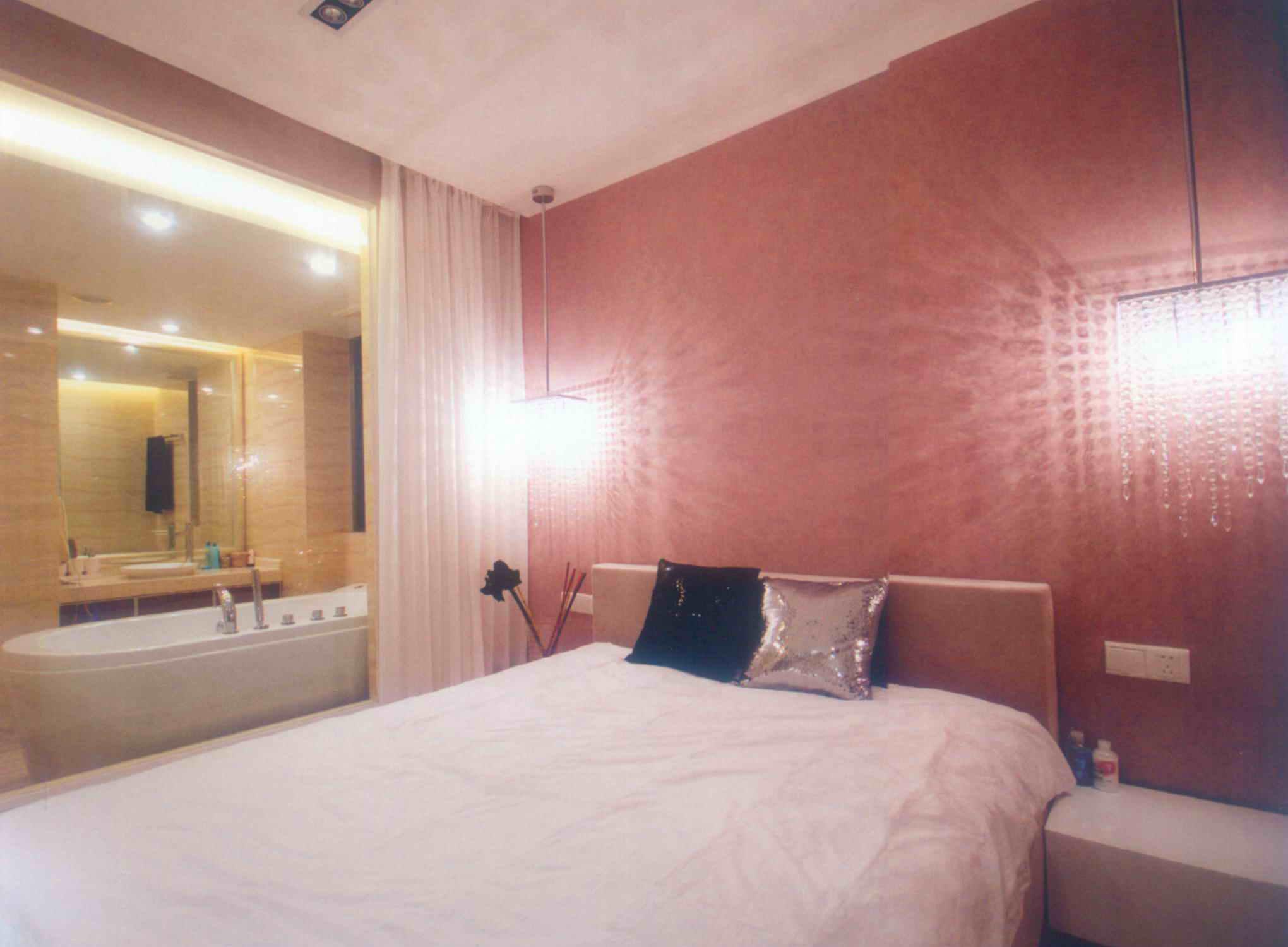 简约 三居 白领 旧房改造 80后 小资 卧室图片来自天津尚层装修韩政在世茂生态城20万打造现代简约的分享