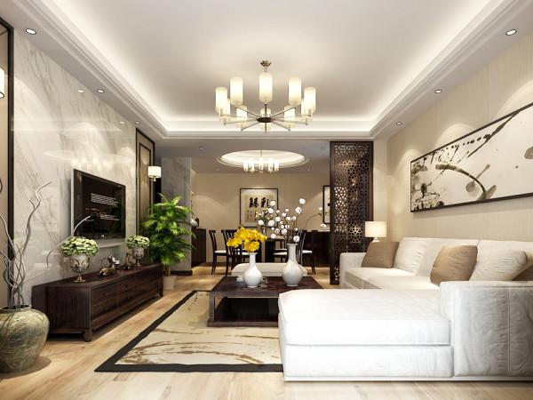 此户型是卓越浅水湾3室2厅1卫1厨 122.10㎡的房子,设计风格是中式风格。整个空间在造型上,以不同线条造型表现传统的中式风格。