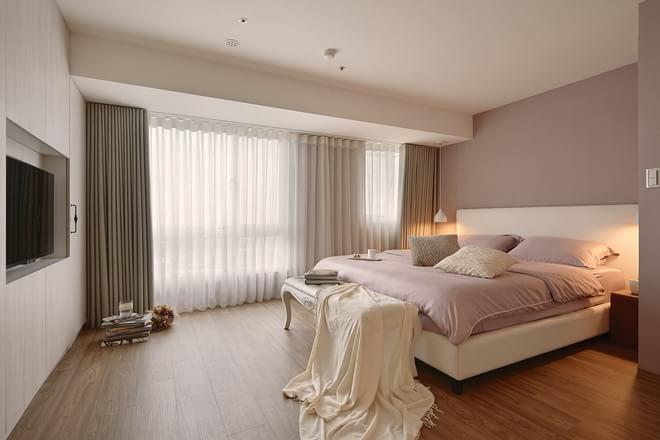 现代简约 卧室图片来自元洲-顺康在105平米现代简约【温润如玉】的分享