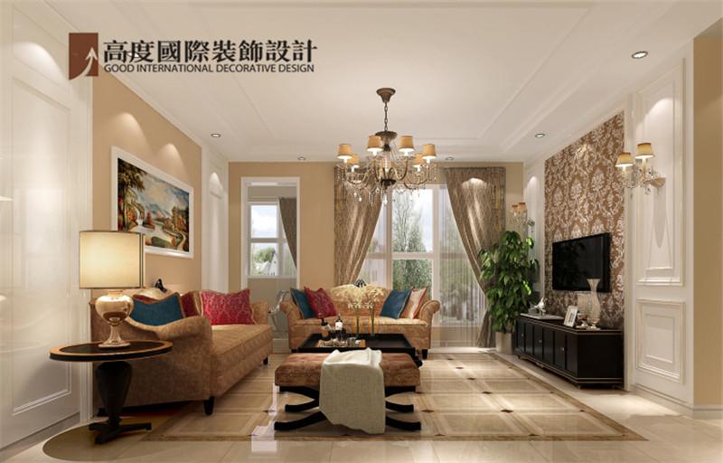 简约 欧式 装饰 案例 效果图 客厅图片来自高度老杨在鲁能七号院三室140㎡简欧公寓的分享