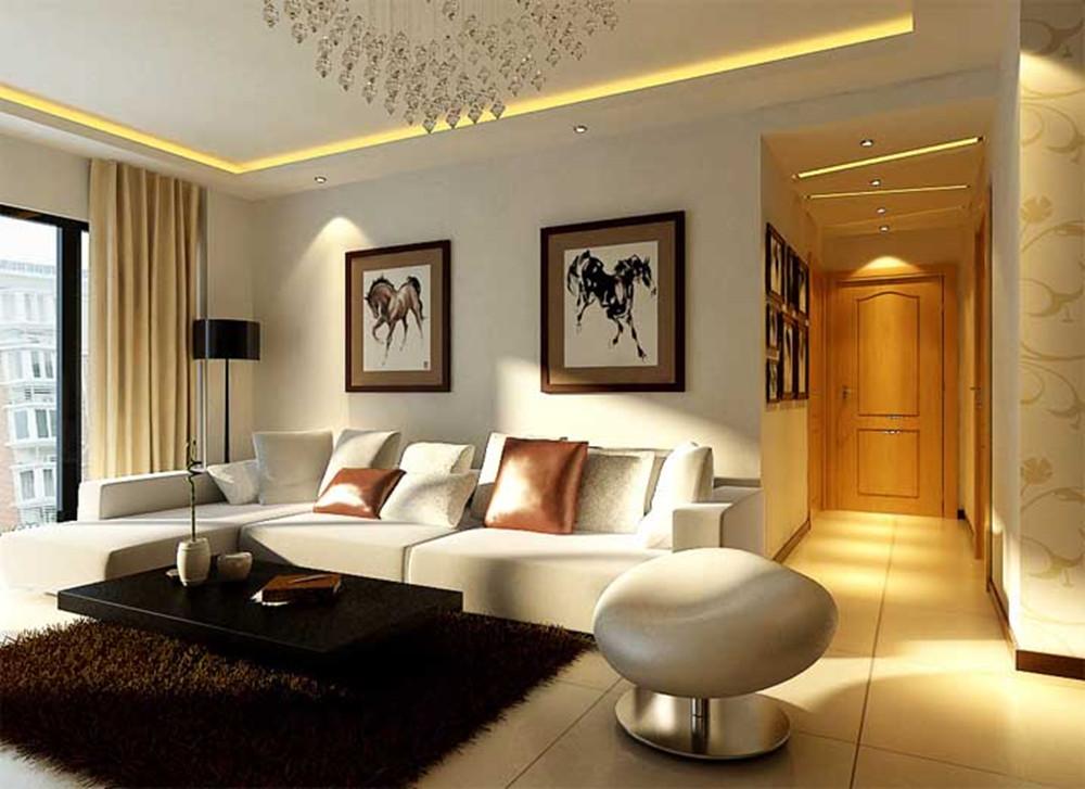 现代 四居 小资 80后 中央庭院 实创装饰 客厅图片来自传承正能量在大户型现代清新风格居家空间的分享