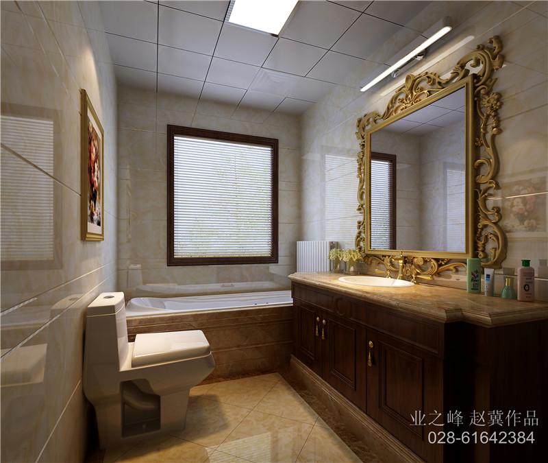 欧式 简约 混搭 三居 卫生间图片来自成都业之峰装修小管家在成都艺锦湾170顶跃案例的分享