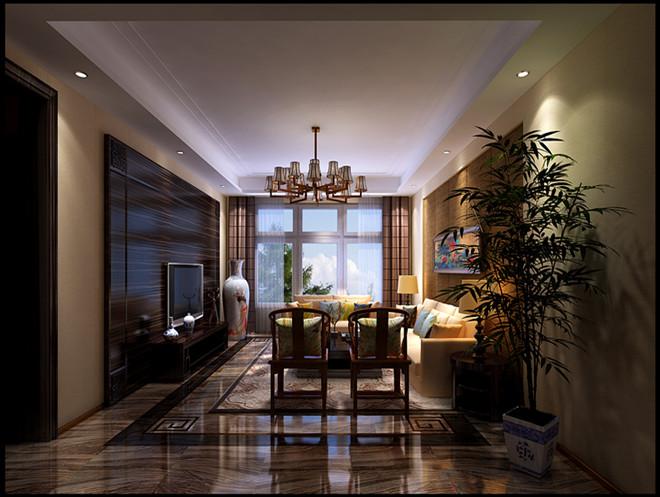 西山壹号院 中式 客厅图片来自凌军在西山壹号院175平米  中式的分享