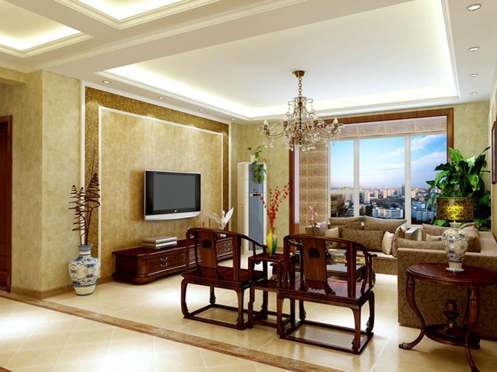 三居 混搭 客厅图片来自石家庄业之峰装饰虎子在国赫·红珊湾132平米效果图的分享