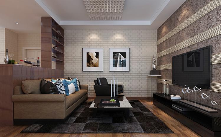 现代简约 二居 收纳 小资 客厅图片来自兰州实创家装在悠然生活两室-现代风的分享