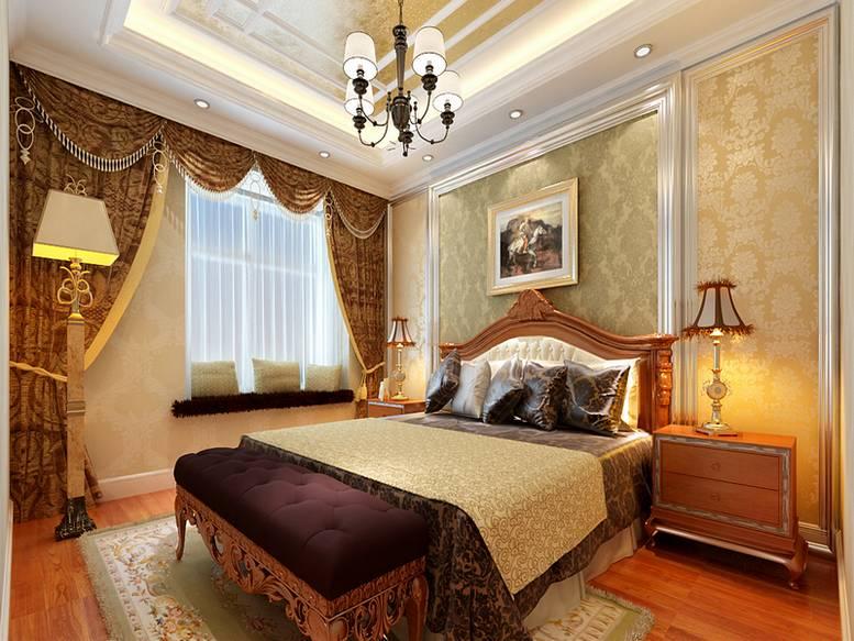 三居 欧式 白领 80后 小资 卧室图片来自天津实创装饰集团l在融侨观邸120平欧式高雅的分享
