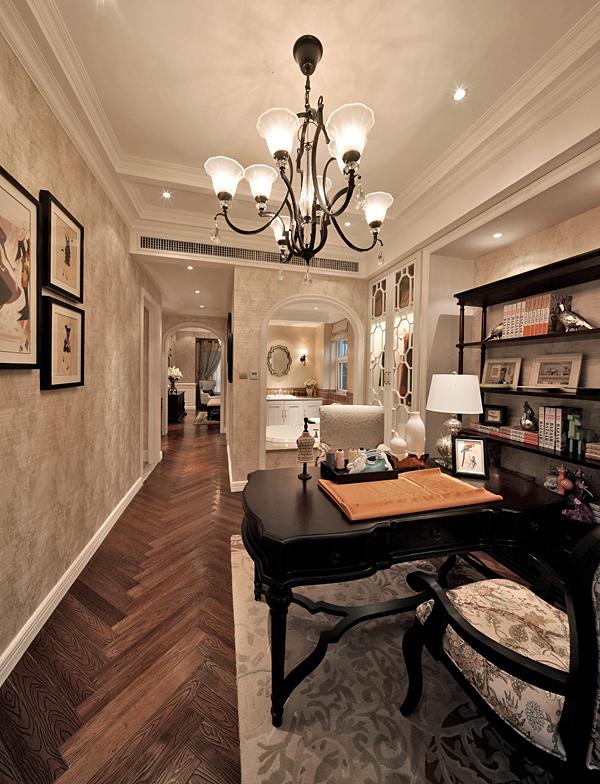 混搭 美式 阿拉奇设计 家庭装修 三居 书房图片来自阿拉奇设计在美式混搭家庭装修的分享