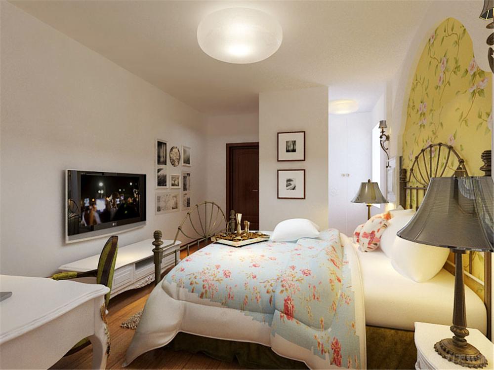 田园 三居 收纳 白领 80后 小资 卧室图片来自阳光力天装饰在华城领秀-93.00㎡-田园风格的分享