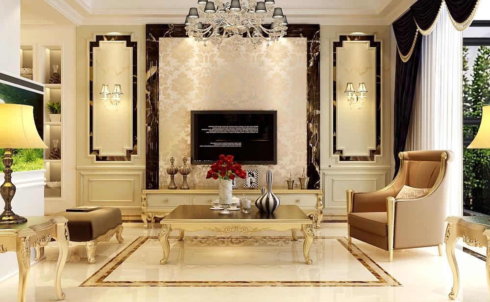 美式 三居 收纳 80后 客厅图片来自石家庄业之峰装饰在宏基花园137平米美式新古典装修的分享
