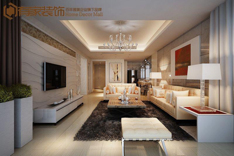 客厅图片来自福州有家装饰-小彭在滨湖一里的分享