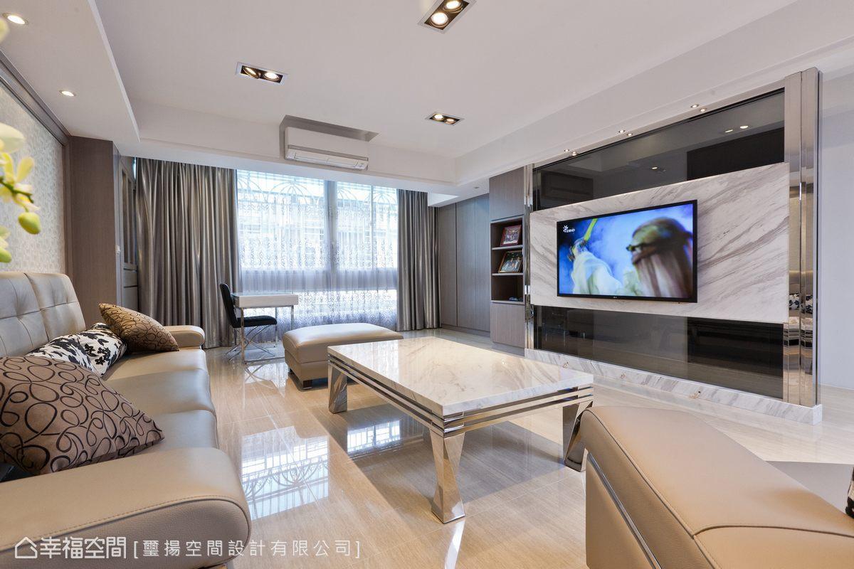 幸福空间 高端设计 台湾设计师 现代风格 客厅图片来自幸福空间在132平老屋再造合宜格局的分享