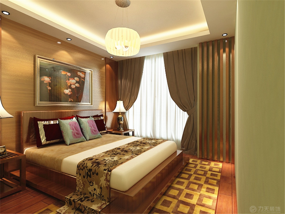 东南亚 二居 收纳 白领 80后 小资 卧室图片来自阳光力天装饰在宝龙城-80.00㎡-东南亚风格的分享