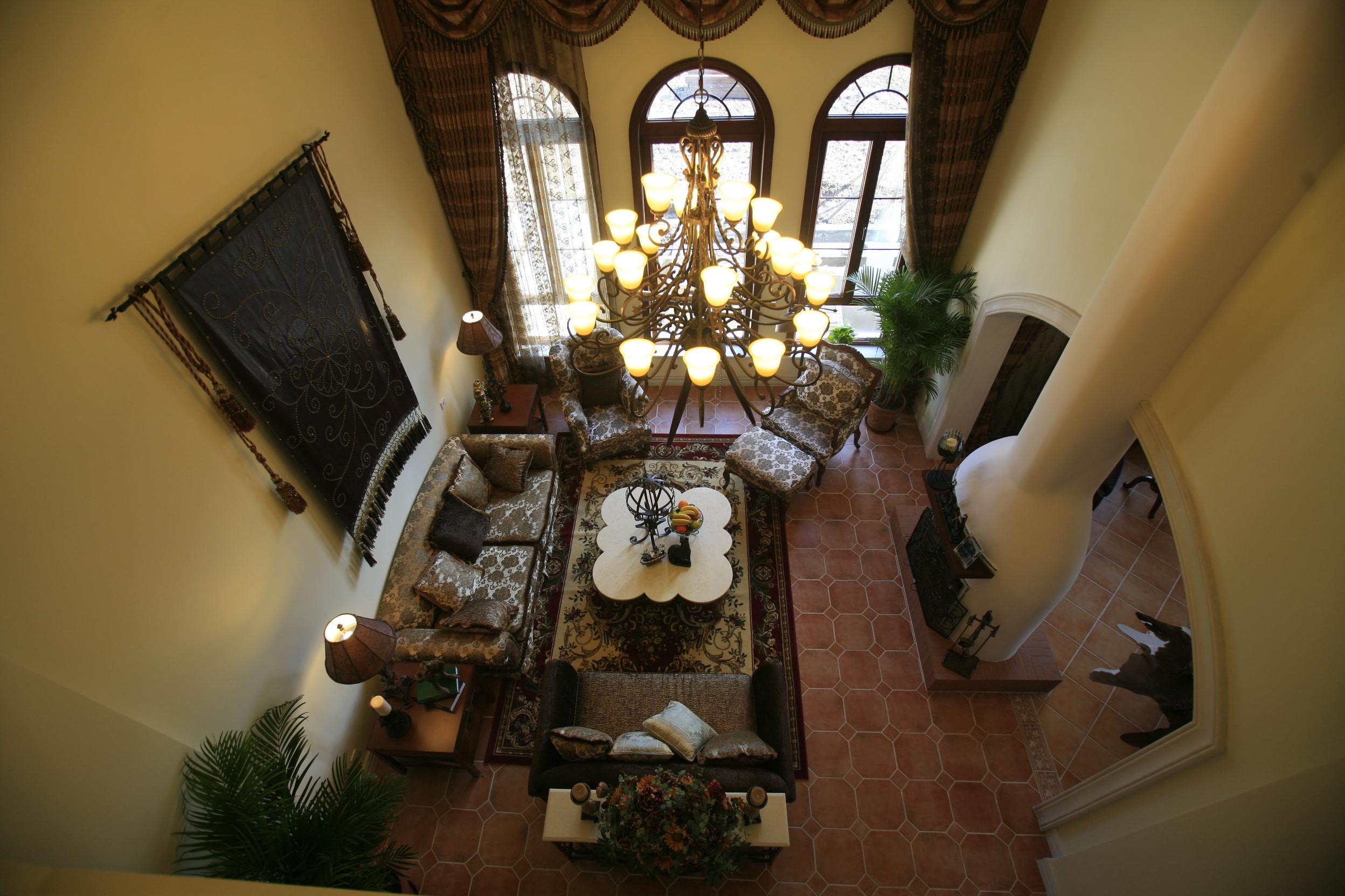 家居装饰 性价比高 实景材料展 新房装修 别墅 白领 小资 客厅图片来自天津实创装饰集团l在独栋别墅的獨特设计—美式的分享