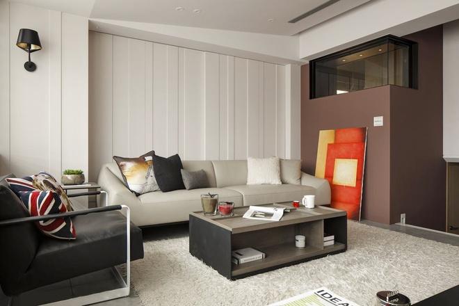 现代简约 客厅图片来自元洲-顺康在89平米复式简约大气【西安元洲】的分享