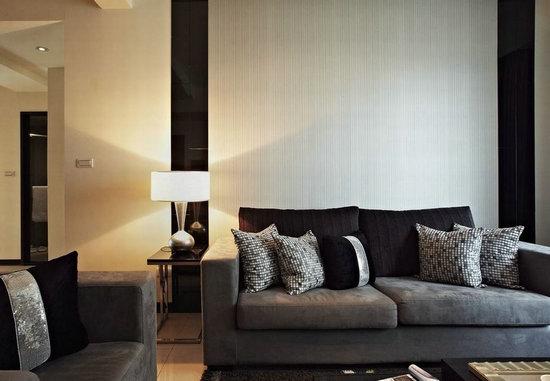 日升装饰 西安日升装 客厅图片来自装修设计芳芳在127平现代风格三居室功能美家的分享